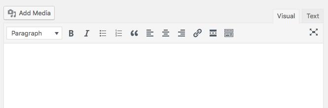 Edit new WordPress Post