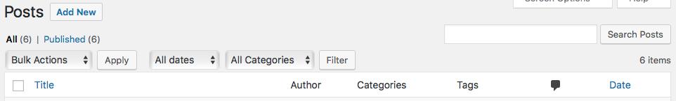 New WordPress Post
