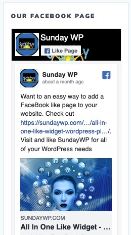 FaceBook Like Page Widget